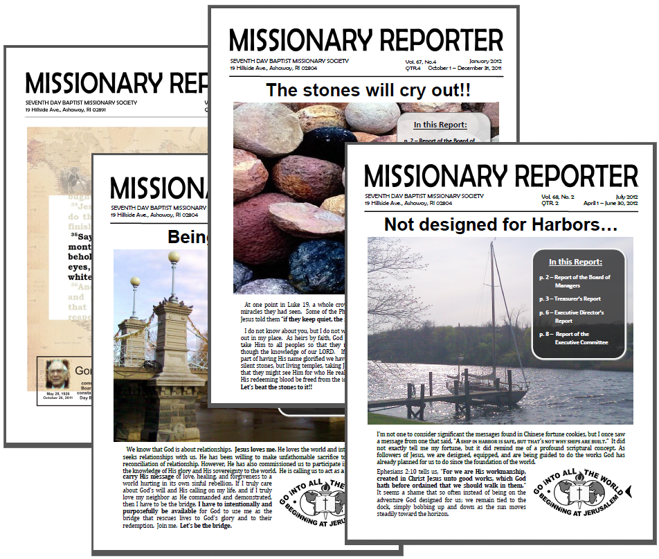 Thumbnail for the post titled: Missionary Reporter 2015 1st Quarter