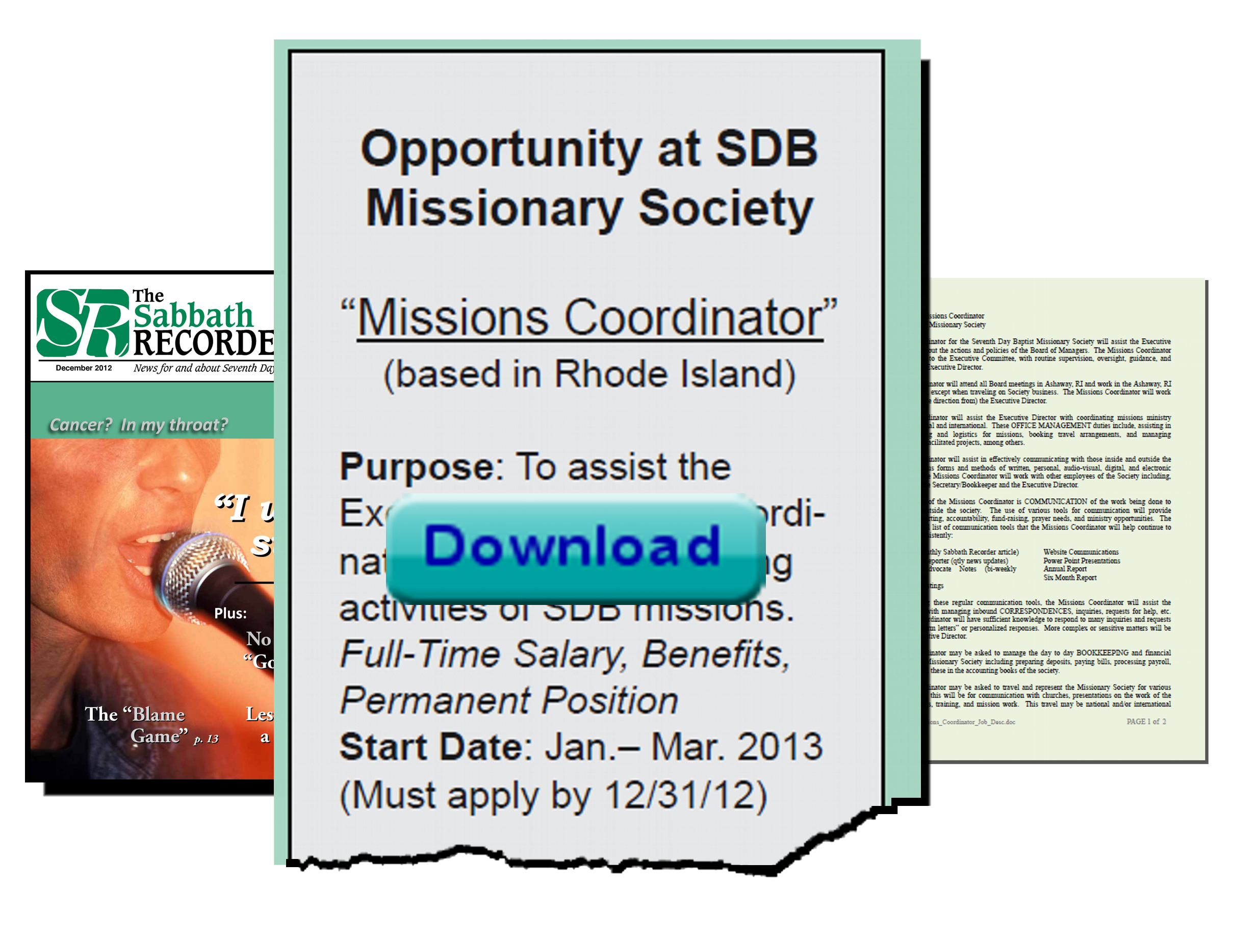 "Thumbnail for the post titled: Opportunity with SDB Missions – ""Missions Coordinator"""