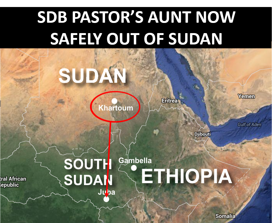 Thumbnail for the post titled: SDB Pastor's Aunt Now Safely Out of Sudan