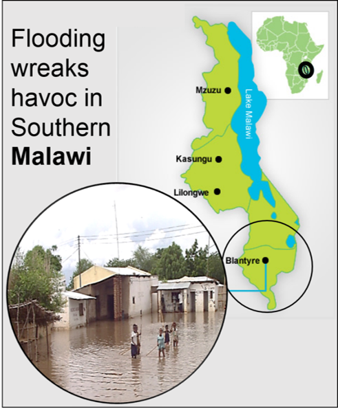 Thumbnail for the post titled: Flooding Badly Affecting SDBs in Malawi