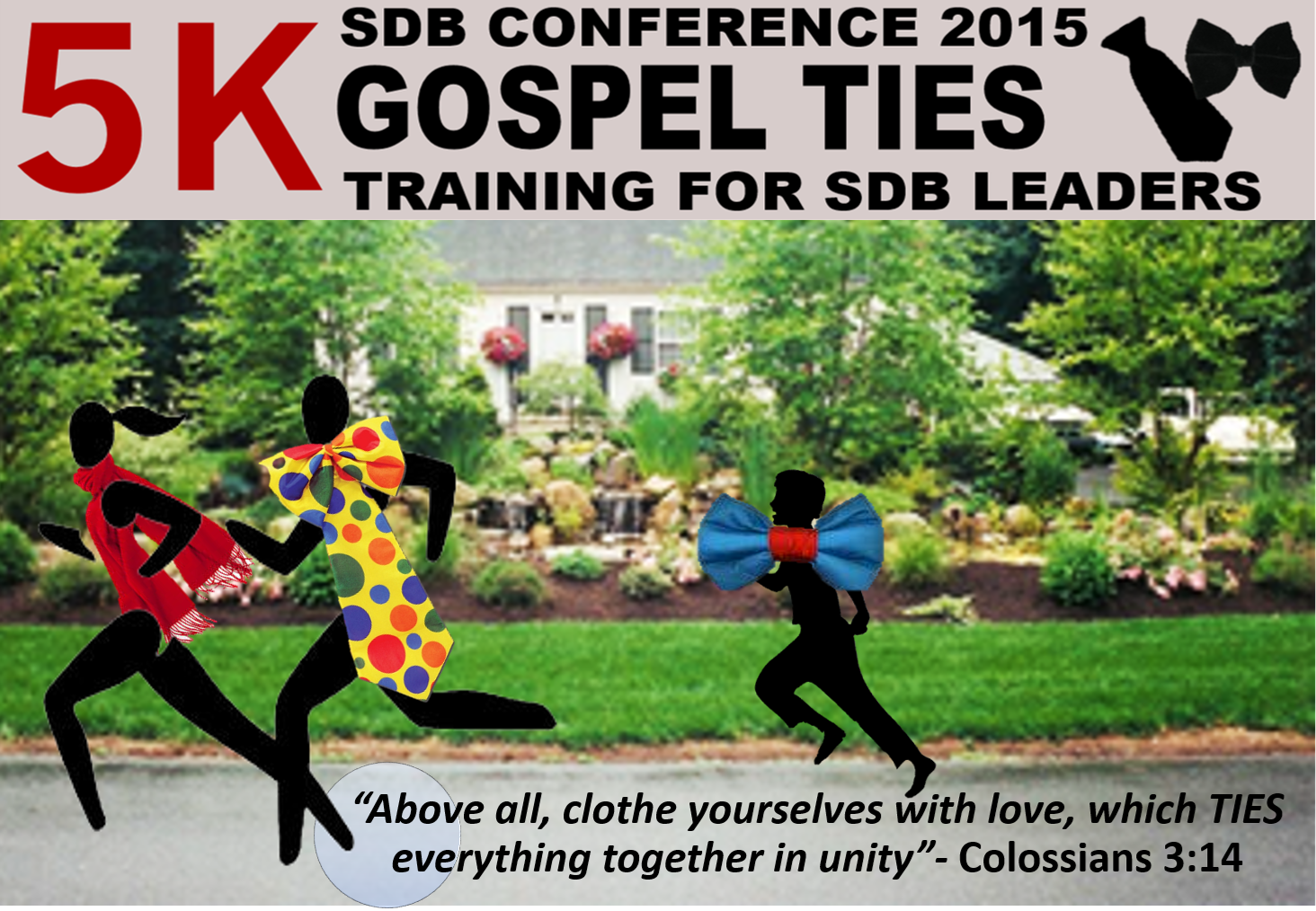 Thumbnail for the post titled: Gospel Ties 5k at Conference 2015