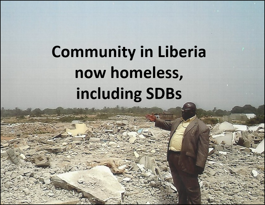 Thumbnail for the post titled: Prayer Needed: Liberian SDBs Among Community Now Homeless