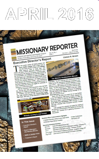 Thumbnail for the post titled: Missionary Reporter 2016 1st Quarter