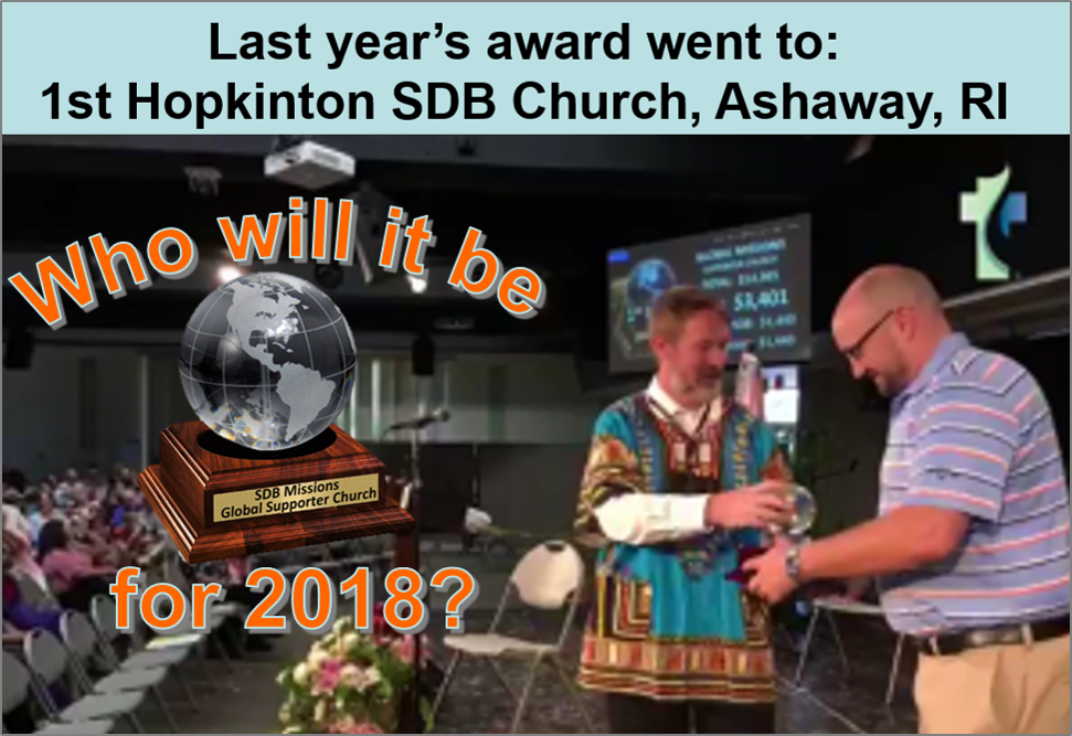 Thumbnail for the post titled: Church Global Missions Award 2018