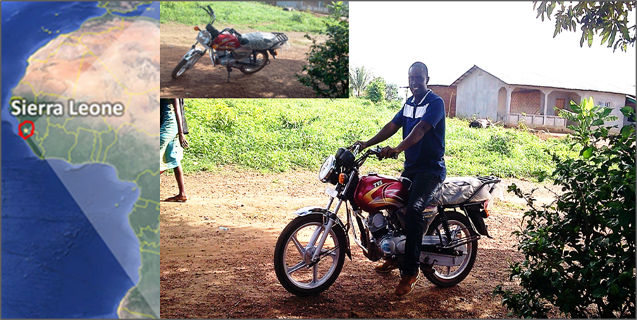 Thumbnail for the post titled: Sierra Leone Motorcycle Project