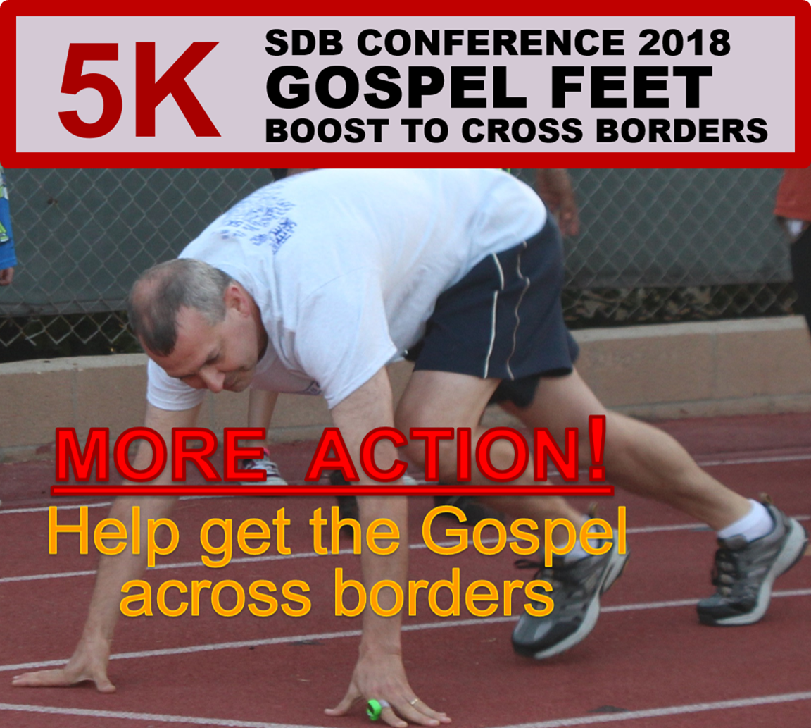 Thumbnail for the post titled: Gospel Feet 5K Action at Conference 2018!