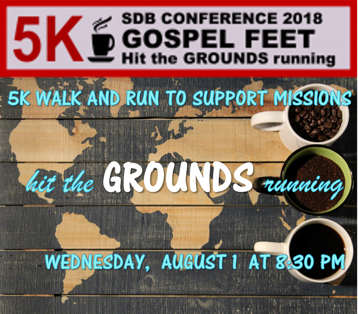 Thumbnail for the post titled: Gospel Feet 5K – You can Participate or Donate