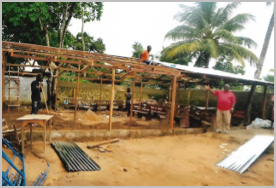Thumbnail for the post titled: Finishing the Chapel in Liberia