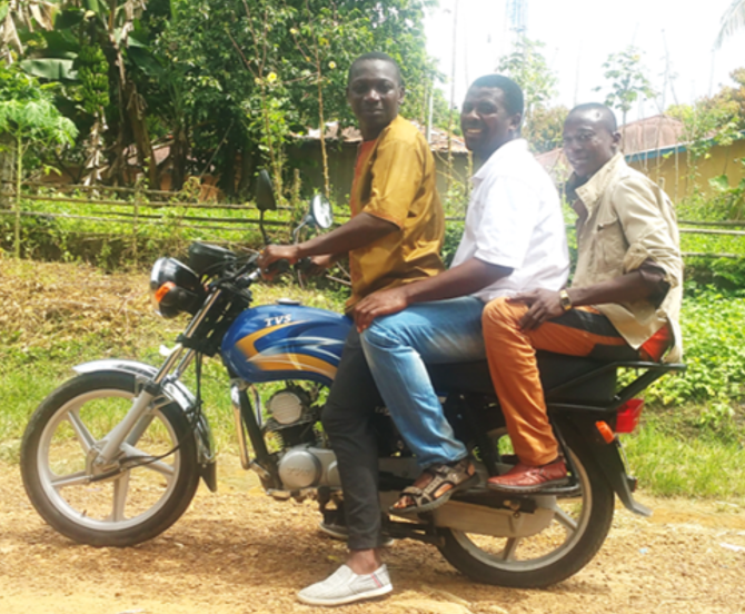 Thumbnail for the post titled: Sierra Leone Motorbikes Continue