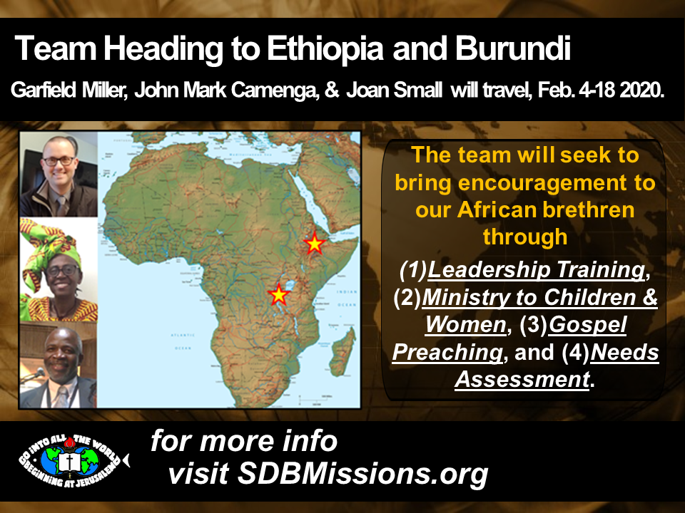 Thumbnail for the post titled: Team Heading to Ethiopia and Burundi