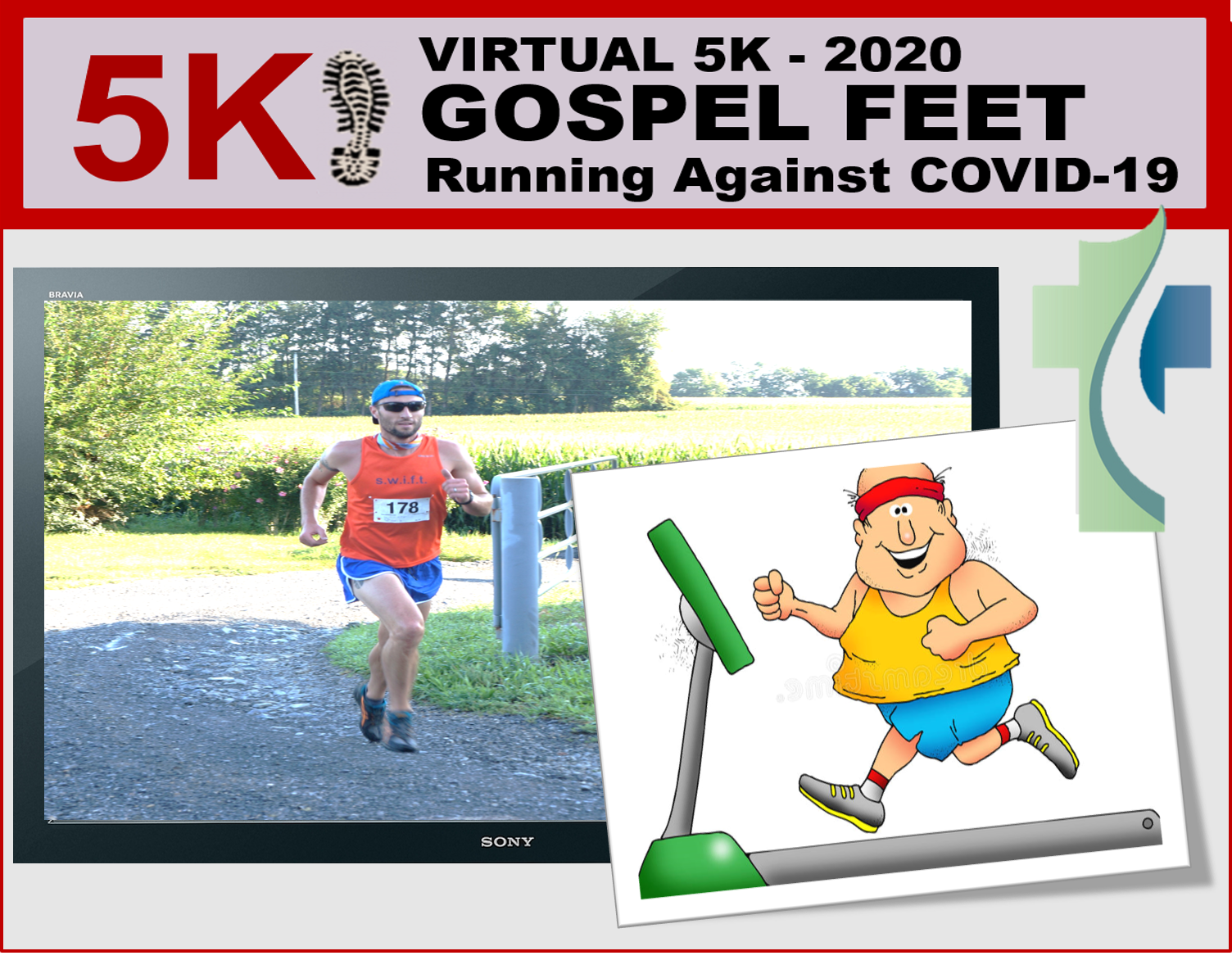 Thumbnail for the post titled: 2020 Gospel Feet 5K On, Virtually!