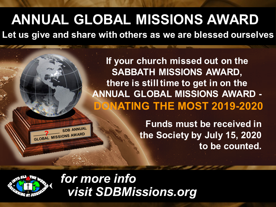 Thumbnail for the post titled: OPPORTUNITY #2 – ANNUAL GLOBAL MISSIONS AWARD