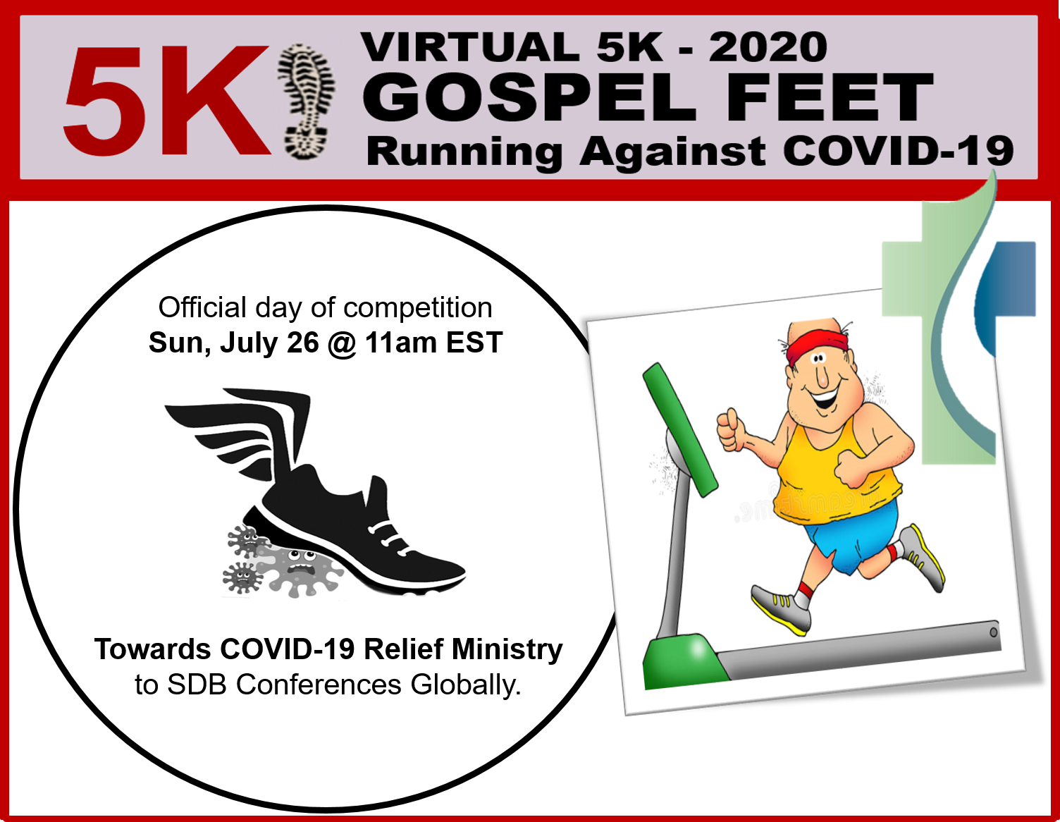 "Thumbnail for the post titled: 5K 2020 – ""Running to beat COVID-19"""