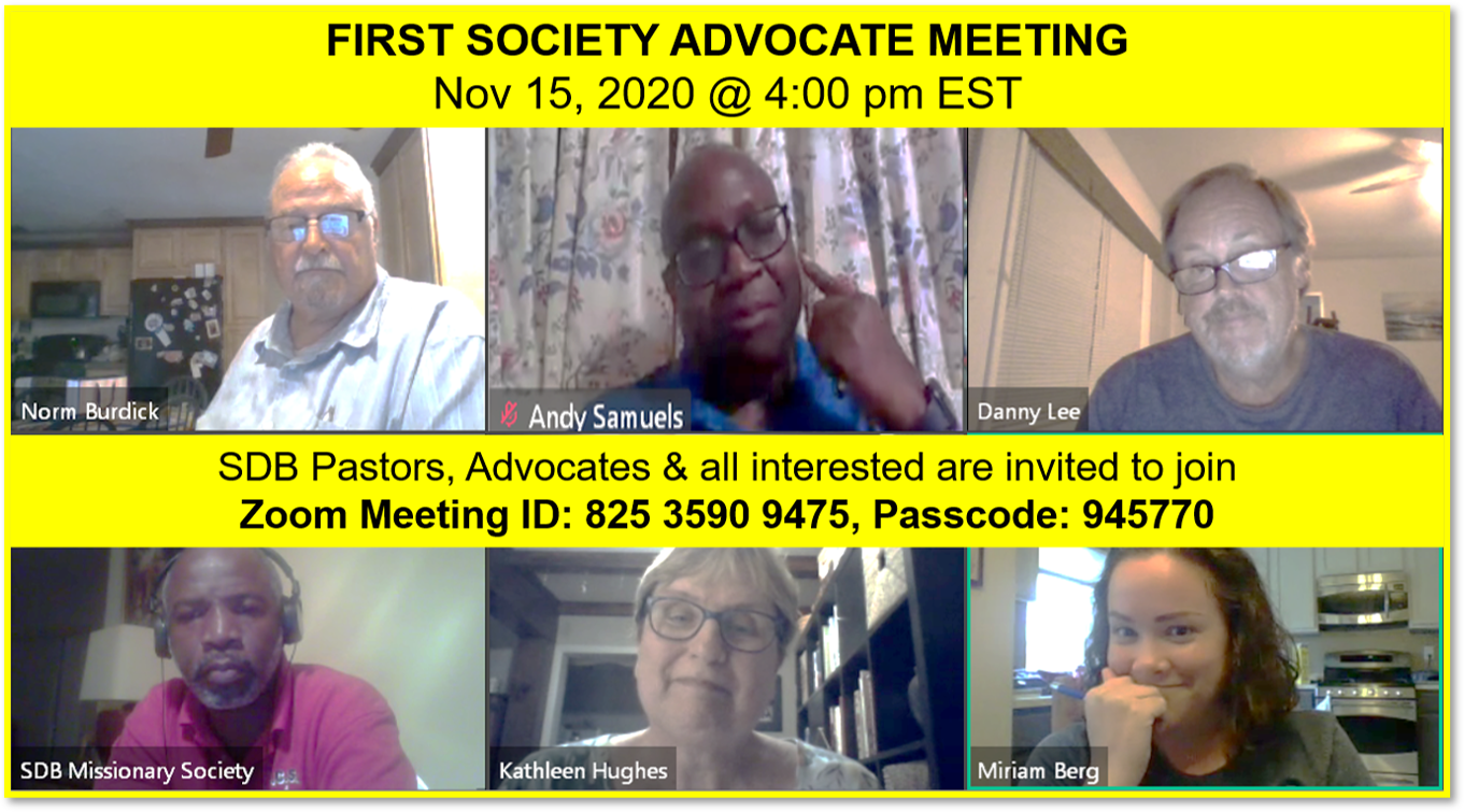 Thumbnail for the post titled: SOCIETY ADVOCATE MEETING