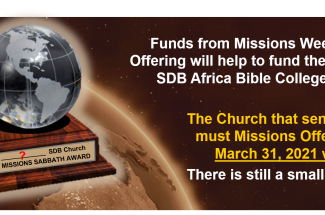 Thumbnail for the post titled: Missions Week Offering Reminder