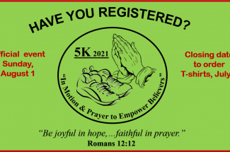 Thumbnail for the post titled: HAVE YOU REGISTERED FOR 5K-2021?